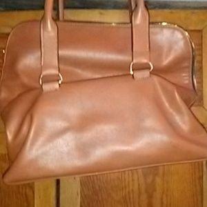 Norman Marcus caramel colored shoulder bag